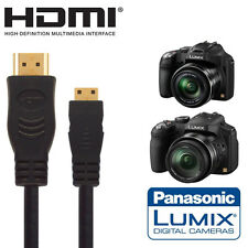 Panasonic DMC-FZ200, FZ72 & FZ62 Fotocamera HDMI MINI MONITOR TV 2,5 m Cavo