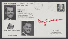 George C. Wallace, Alabama Governor, on 1972 Nixon-Agnew Election cover