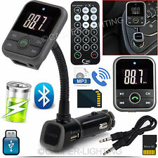 KIT Auto Trasmettitore FM Wireless Bluetooth Vivavoce Lettore mp3 LCD USB SD TELECOMANDO