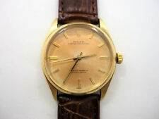 Vintage Rolex Mens 14K Oyster Perpetual Watch  34mm 14K Yellow Gold Ref. 1002
