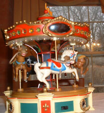"""THE CAROUSEL DREAM"" VINTAGE ENESCO ANIMATED MERRY GO ROUND MUSIC BOX"