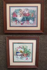 Home Interior Pictures by Barbara Mock Set of 2: Tea Cup & Ivy / Shelf Birdhouse