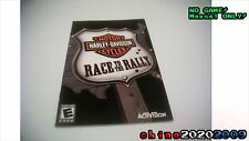 Harley Davidson Race to the Rally Manual only! No game ps2