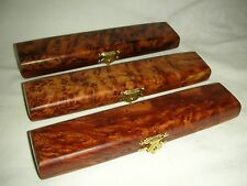 x5 Pen holder with 5 ipods of wood Thuya maroc