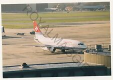 35mm negative & colour print of Air Malta Boeing 737 9H-ABE at Gatwick in 1995