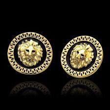 18k placcato in oro giallo Re Leone Orecchini donna gioielli di moda *** UK Venditore