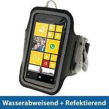 Schwarz Anti-Rutsch Sports Armband für Nokia Lumia 520 530 Joggen Fitness Case