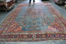 Antique Mahal Sultanabad Persian Finely Hand Knotted Wool Rug 10'5 x 14'5