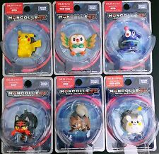 Set of 6 Takara Tomy Pokemon Sun and Moon Monster Collection EX MC Figure #01-06
