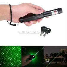 Powerful Green FOCUS Laser Pointer Pen Visible Beam Star NO BATTERY 18650 Black