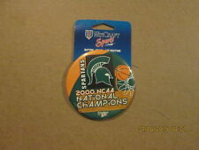 NCAA Spartans 2000 National Champions BB Pinback Button