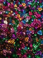 100 X 8mm  Aluminum Small Mixed Colour Roses,spacer Beads, Wedding Table
