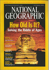 National Geographic September 2001 Peace Parks/Tombs/Immigration/How Old Is It