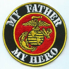 MY FATHER MY HERO MILITARY VETERAN EMBROIDERED BIKER PATCH