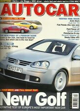 Autocar 30th September 2003 Golf, A8, Panda, N-Joy, Ford GT, Ferrari 360M, Ariel