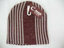 Censim Cheng Xin Mao Ye Red Stripe Winter Hat Tan One Size Fits Most