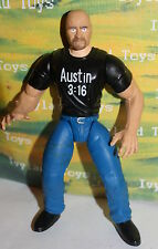 WWE Stone Cold Steve Austin Bone Crunching Action Figure Jakks WWF Wrestling 8