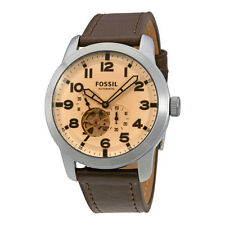 Fossil Pilot 54 Silver Dial Mens Automatic Watch ME3119
