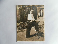 Vintage 20s B/W Photograph. Man with Lassoo, Spurs and Cowboy Trousers. Clothes