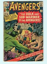 The Avengers #3 3.0 GD/VG 1st Hulk / Sub-Mariner Team-Up Silver Age Marvel Comic