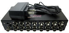 16 Way BNC Coaxial TV CCTV DVR Composite Video 1 to 16 Ports Switch Splitter Box