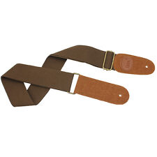 New IRIN Adjustable Canvas Acoustic/Electric Guitar & Bass Strap Brown