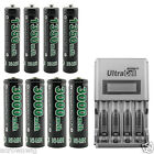 4x AA 4x AAA 1.2V Ni-MH Rechargeable Battery GO!GREEN + LCD Intelligent Charger