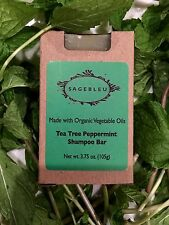 Sagebleu Organic Tea Tree Oil & Peppermint Shampoo Bar