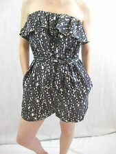 Rachel Roy Size S and 8 Patterned Silk Casual Playsuit
