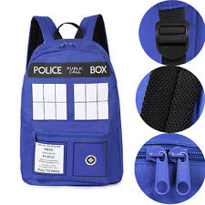 Blue Doctor Who Tardis Police Box Dr Who Backpack Shoulder Bag Rucksack