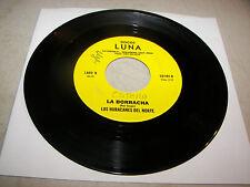 LOS HURACANES DEL NORTE OCHO MESES / LA BORRACHA 45 VG+ Discos Luna LU-101 RARE