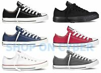 Converse All Star Chuck Taylor Canvas Shoes Low Top Size 3.5 - 11