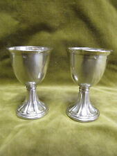 Late 19th c french 950 minerve silver 2 egg cups 57gr