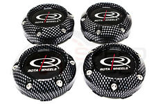 ROTA WHEELS FRANKIE 3 CARBON FIBER REPLACEMENT WHEEL CENTER CAPS SLIPSTREAM