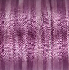 "Fine 2mm (1/16"") Space Dyed Silk Ribbon - 3 meters Lavender"