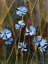 Oskar Gramann (Canadian) - Watercolour - Wildflowers III