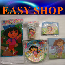 Baby Shower Dora Birthday Party Supply Disposal Cup Table Sheet Plate Cards