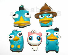 Takara Tomy Disney Phineas and Ferb Perry the Platypus squishy keychain figure