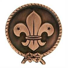 WORLD SCOUT COPPER PIN BADGE 25mm