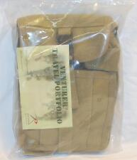Rothco Portfolio Travel Canvas Bag Khaki w/Strap Hunting Fishing Camping Hiking