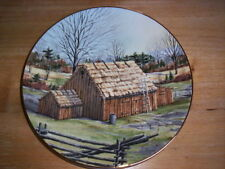 The Vanishing American Barn Plate THATCHED BARN by Harris Hien 1983 Limited Ed.