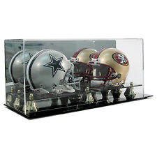 SAF-T-GARD DOUBLE 2 MINI FOOTBALL HELMET ACRYLIC DISPLAY CASE AD11