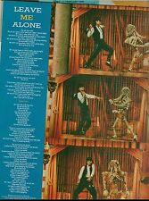 MICHAEL JACKSON Leave Me Alone magazine PHOTO and LYRICS 11x8 inches