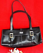 KENNETH COLE  REACTION  - ORIGINAL LEATHER  HAND BAG -  BLACK