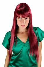 Very long Women's Wig red - purple smooth level Points Hair replacement 70cm