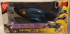 """The Batman"" Animated Series Vehicle Deluxe 3-In-1 Batjet Batplane By Mattel MIB"