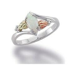 Landstrom's® Black Hill 12K Gold on Sterling Silver Ring with Opal Size 5