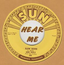ROCKABILLY REPRO: JACK EARLS - Slow Down/A Fool For Loving You SUN 240