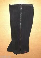 New Horse Riding Adult Synthetic *suede leather* half chaps xtra large (Black)