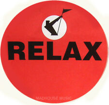 "FRANKIE GOES TO HOLLYWOOD Relax STICKER UK PROMO ONLY 9 cm radius (3.5"") UNUSUED"